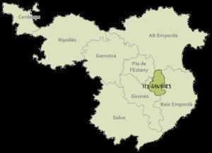Mapa situació Ter-Gavarres